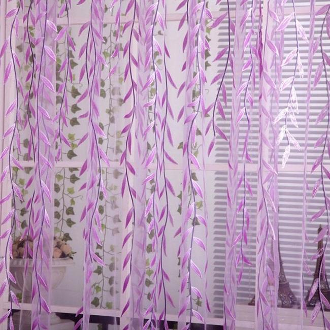 Mê mẩn 10 mẫu rèm cửa sổ màu tím đẹp sang trọng, ngọt ngào