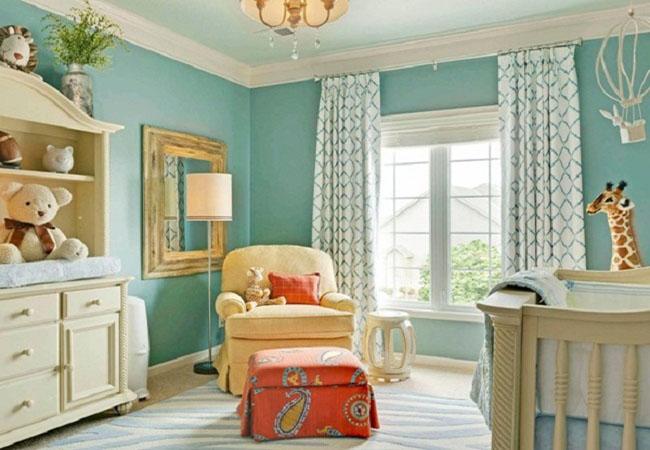 11 Ý tưởng sử dụng rèm cửa cho tường màu xanh đẹp đến ngẩn ngơ